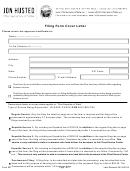 Form 521 - Filing Form Cover Letter