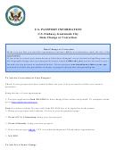 Data Change Or Correction Form - U.s. Embassy Guatemala City