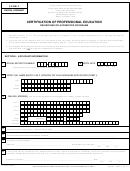 Dental Hygiene Form 2 - Certification Of Professional Education