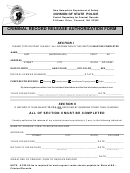 Criminal Record Release Authorization Form