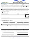 Form Rv-707 - Application For Certificate Of Title