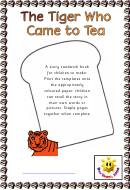 The Tiger Who Came To Tea - Story Sandwich Template