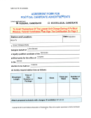 Nab Form Pb-18 - Agreement Form For Political Candidate Advertisements