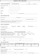 Sample Part Request