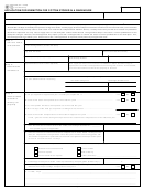 Form 50-245 - Application For Exemption For Cotton Stored In A Warehouse