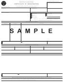 Form 4455 - Certificate Of Registration - Certificate Of Registration - Sample