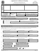 Form N-600 - Application For Certificate Of Citizenship - Department Of Homeland Security