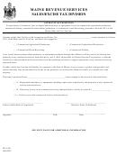 Form St-a-126 - Affidavit Of Exemption - Sales/excise Tax Division