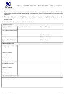 Scaa Air Form 8 - Application For Issue Of A Certificate Of Airworthiness