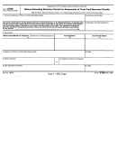 Form 2750 - Waiver Extending Statutory Period For Assessment Of Trust Fund Recovery Penalty