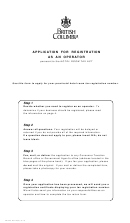 Instructions For Form Fin 430 - Application For Registration As An Operator - British Columbia