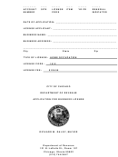 Application For Business License - City Of Chicago Department Of Revenue