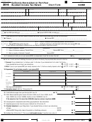 Short Forrm 540nr - California Nonresident Or Part-year Resident Income Tax Return - 2016