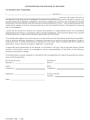 Form 08-4228b - Authorization For Release Of Records