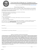 Personal Name Change Form - The Ohio State Board Of Cosmetology