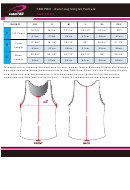 Team Tbb Pro Running Singlet Female Size Chart