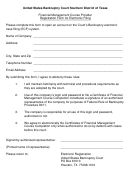 Registration Form For Electronic Filing - United States Bankruptcy Court Southern District Of Texas