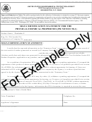 Epa Form 8570-37 - Self-certification Statement For The Physical/chemical Properties - Example