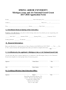 Michigan Army And Air National Guard Grant Application Form - 2017-2018