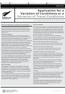 Form Inz 1020 - Application For A Variation Of Conditions Or A Variation Of Travel Conditions