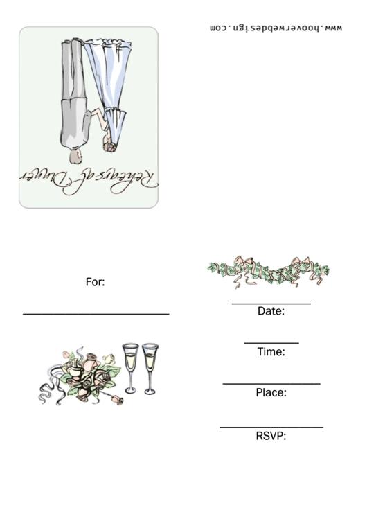 Rehearsal Dinner Invitations Template Printable pdf