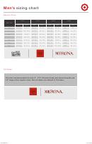 Merona Men's Sizing Chart