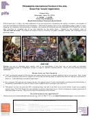 Street Fair Vendor Application - Philadelphia International Festival Of The Arts