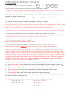 Scps Chemistry Worksheet With Answers - Periodicity
