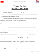 Form Dmv-vspa-01 - Vehicle Services - Power Of Attorney