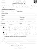 Form 200-f - Franchise Election - Oklahoma Tax Commission