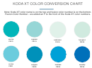 Koda Xt Color Conversion Chart