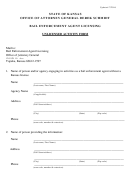 Unlicensed Activity Form - State Of Kansas