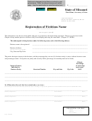 Registration Of Fictitious Name - Missouri Secretary Of State