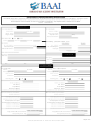 Air Accident / Serious Incident Report Form - Bureau Of Air Accident Investigation