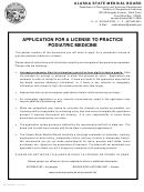 Application For A License To Practice Podiatric Medicine