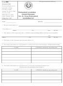 Form 803 - Professional Association Annual Statement - Texas Secretary Of State