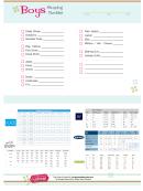 Boys Shopping Checklist Template