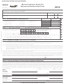 Form 8879-k - Kentucky Individual Income Tax Declaration For Electronic Filing - 2012