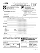 Form 3975 - Tax Professionals Annual Mailing List Application And Order Blank - 2002