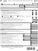 Form 41s - Idaho S Corporation Income Tax Return - 2015, Form Id K-1 - Partner's, Shareholder's, Or Beneficiary's Share Of Idaho Adjustments, Credits, Etc. - 2015