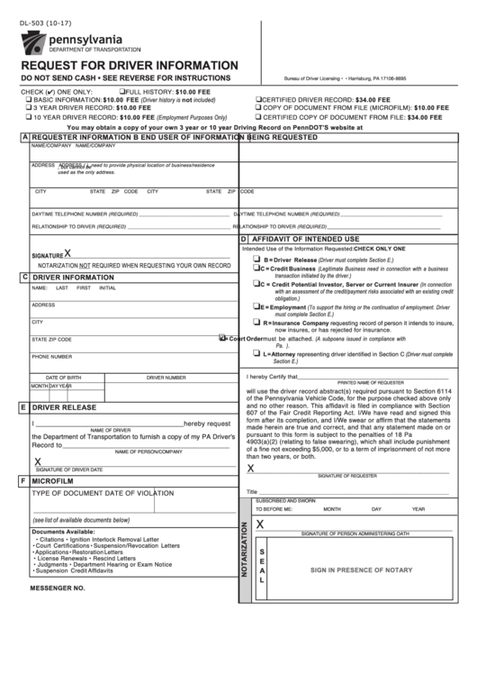 68 Pennsylvania Department Of Transportation Forms And Templates
