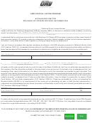 Form Inf 1101 - Authorization For Release Of Driver Record Information