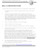 Small Claims Instructions - Superior Court Of California