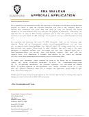 Sba 504 Loan Approval Application Form