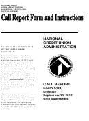 Form 5300 - Call Report - National Credit Union Administration