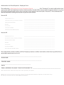 Authorization For Direct Deposits - Employee Form