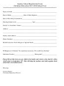 Sunday School Registration Form - Christian Education - 2017-2018