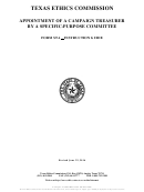 Instructions For Form Sta - Appointment Of A Campaign Treasurer By A Specific-purpose Committee
