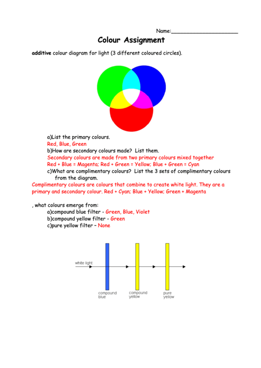 Color Assignment With Answers