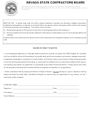 Waiver Of Right To Notice - Nevada State Contractors Board
